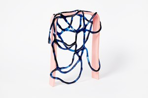 Arch Series; Blue on Pink I by Gabrielle Adamik contemporary artwork