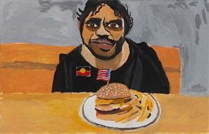 Self-Portrait (All You Can Eat) by Vincent Namatjira contemporary artwork