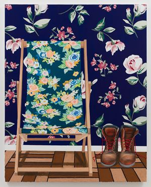 Chair with Boots by Alec Egan contemporary artwork painting