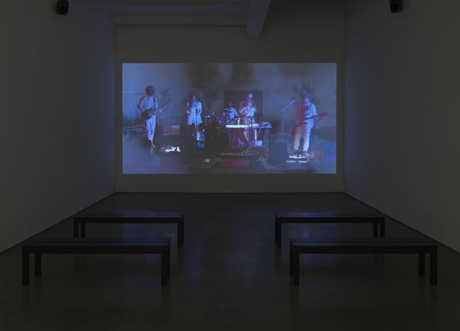 Exhibition view: Jim Shaw, Before and After Math,Metro Pictures, New York (11 March–24 April 2021). Courtesy Metro Pictures.