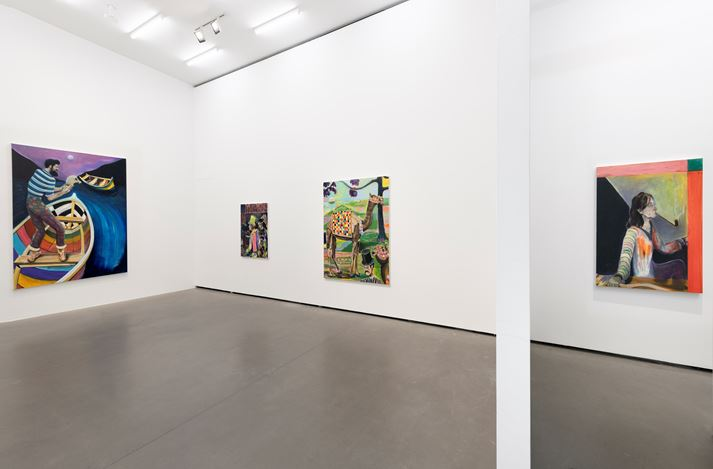 Exhibition view: Ryan Mosely, A planets revolution, Galerie EIGEN + ART, Berlin (24 October–30 November 2019). Courtesy Galerie EIGEN + ART, Berlin. Photo: Uwe Walter, Berlin.