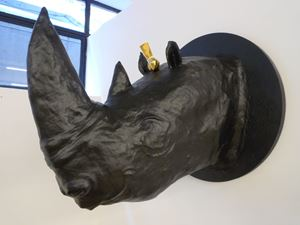 Untitled, Rhino and Bird by Maia Tabet contemporary artwork