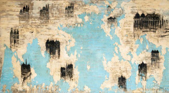 Le cattedrali by Piero Pizzi Cannella contemporary artwork