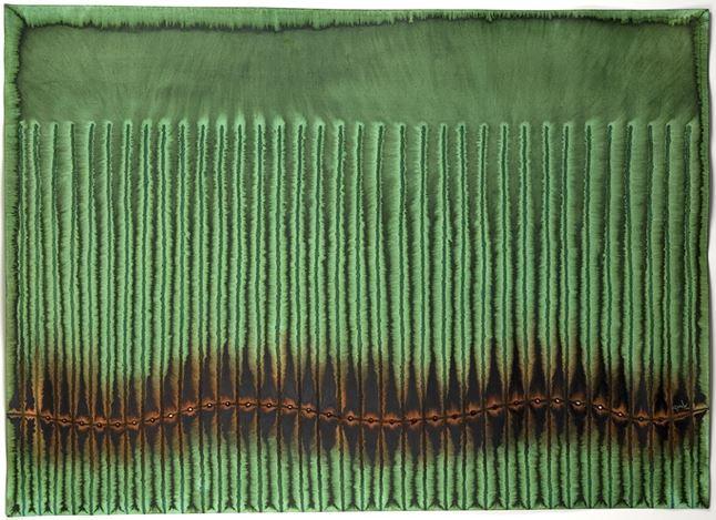 Sohan Qadri, Prana VI(2006). Ink and dye on paper. 99 x 140 cm. Courtesy Sundaram Tagore Gallery.