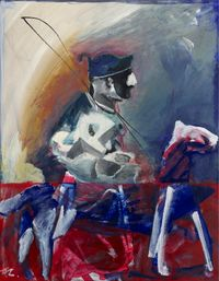 Going Downtown on Horseback by Jhong Jiang-Ze contemporary artwork painting