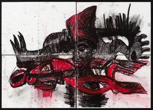 (MUKEBA(self portrait) by Pierre Mukeba contemporary artwork