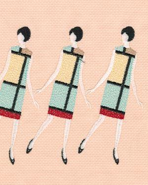 YSL Mondrian by Tobias Kaspar contemporary artwork