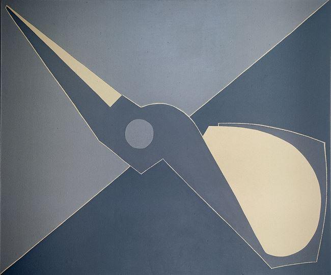 Outline, Half Scissors, Diagonal by Mao Xuhui contemporary artwork