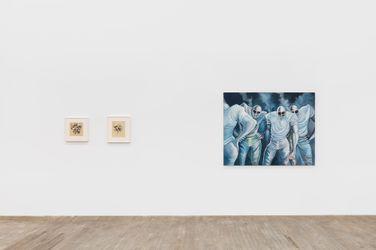 Exhibition view: Ernie Barnes, Works: 1961 - 1998, Andrew Kreps Gallery, Walker Street, New York (24 September–30 October 2021). Courtesy the Ernie Barnes Family Trust and Andrew Kreps Gallery, New York. Photo: Dawn Blackman.