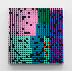 Automatic Drawing (Pink/Green/Purple) by Rebecca Baumann contemporary artwork