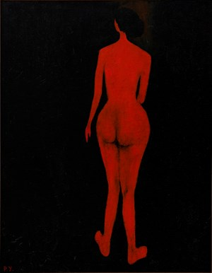 Red Figure 紅影 by Wang Pan-Youn contemporary artwork