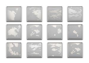 12 Months Clouds grid by Miya Ando contemporary artwork