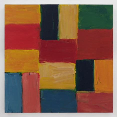 Sean Scully,Wall Red Red (2020). Oil on linen. 160 x 160 cm. Courtesy Kerlin Gallery.