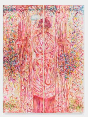 Femme Colonne G.O.K. by Jutta Koether contemporary artwork painting