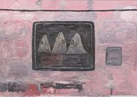 Blackboard by Philip Guston contemporary artwork painting
