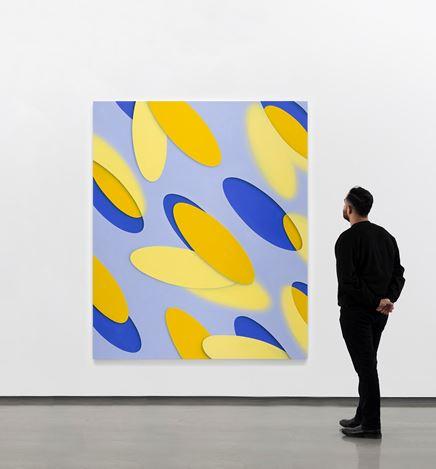 Lesley Vance, Untitled (2020). Oil on linen. 80 x 67 inches. Courtesy David Kordansky Gallery.