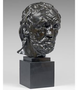 Tête de l'homme au nez cassé, Version dite type II, premier modèle by Auguste Rodin contemporary artwork