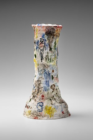 Vase (funnel-shaped) by Stephen Benwell contemporary artwork