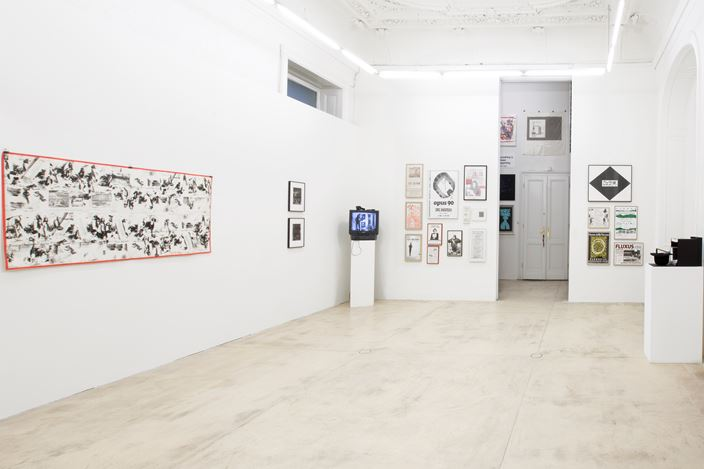 Exhibition view: Group Exhibition, Fluxus ABC, Galerie Krinzinger, Vienna (18 December 2019–14 February 2020). Courtesy Galerie Krinzinger.