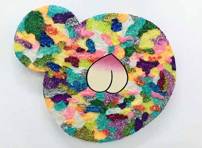 Peace, Disheartened and Immortality on Rainbow Camouflage by Yuree Kensaku contemporary artwork