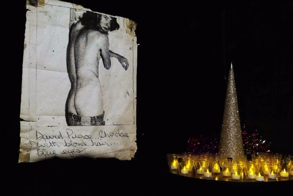 Image: Fiona Clark, Remembering those who have died - Saturday, September 03, 2016, Aunt Charlie's Lounge San Francisco, 2016. Image courtesy Michael Lett, Auckland.