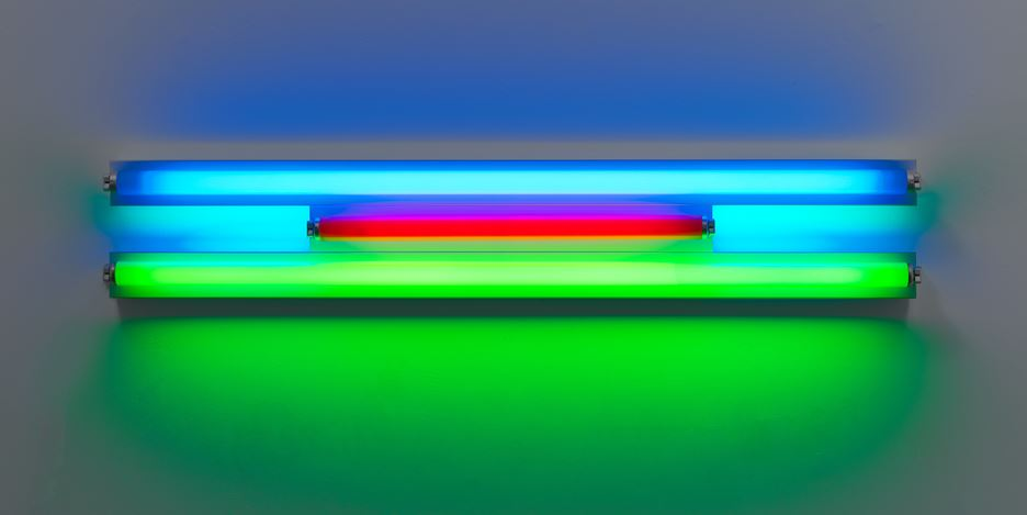 Dan Flavin, untitled (1995) (detail). Courtesy David Zwirner.