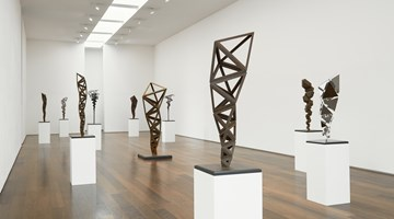 Contemporary art exhibition, Conrad Shawcross, Inverted Spires and Descendent Folds at Victoria Miro, London
