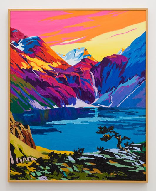 Sunset Mountains by Alec Egan contemporary artwork