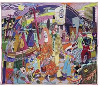 A Perfect Match by Grayson Perry contemporary artwork textile