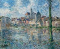Moret-Sur-Loing by Gustave Loiseau contemporary artwork painting, works on paper