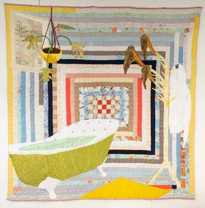 Arrowhead by Jesse Krimes contemporary artwork textile