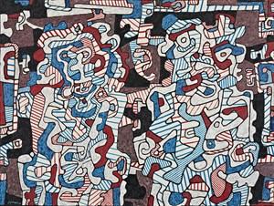 Époux en visite (Spousses on a Visit) by Jean Dubuffet contemporary artwork