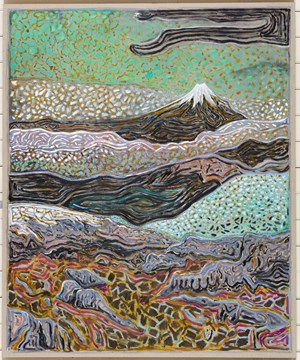 volcano by Billy Childish contemporary artwork