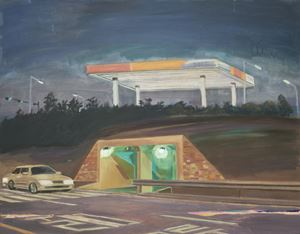 Night-Tunnel-Gas Station by Dongwook Suh contemporary artwork painting