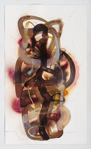 Totem 4 by Manisha Parekh contemporary artwork works on paper, drawing