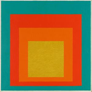 """Study for Homage to the Square: """"Persistent"""" (JAAF 1976.1.610) by Josef Albers contemporary artwork"""