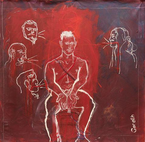 Gareth Ernst, Stephen (2020). Oil and gesso on canvas, 200 x 200 cm. Courtesy Martin Browne Contemporary.