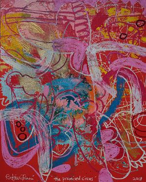 The Promised Circus by Rafiee Ghani contemporary artwork
