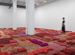 """Lin Tianmiao<br><em>Protruding Patterns</em><br><span class=""""oc-gallery"""">Galerie Lelong & Co. New York</span>"""