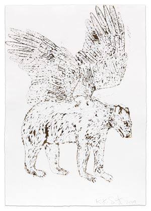Bear with Wings by Kiki Smith contemporary artwork