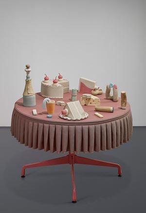 Checks and balances by Genesis Belanger contemporary artwork sculpture