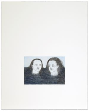 Heads in Water by Kiki Smith contemporary artwork