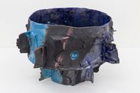 Deep blue ocean fading by Tracy Keith contemporary artwork sculpture