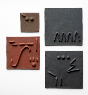 Pidgin Tiles Set 4 by Pyda Nyariri contemporary artwork sculpture