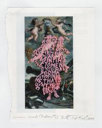 Women Words (Rubens #7) by Betty Tompkins contemporary artwork painting, works on paper