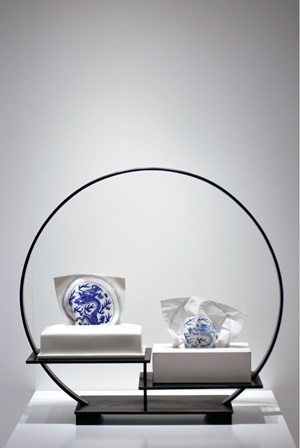 Blue and white in china and facial tissue series 02 by Angel HUI Hoi Kiu contemporary artwork