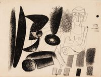 Untitled [Double-sided] by Arshile Gorky contemporary artwork painting, works on paper, drawing