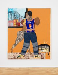 Sprewell by Tschabalala Self contemporary artwork painting