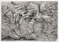 Rock Landscape #1 by Shi Jin-Hua contemporary artwork works on paper, drawing
