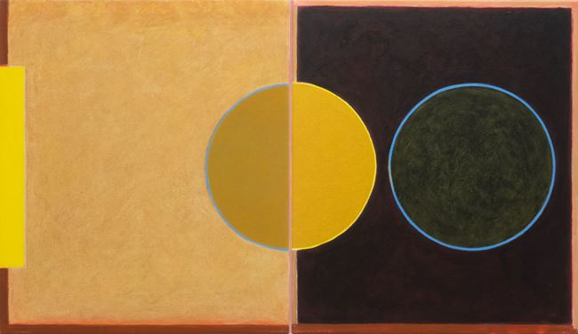 Untitled Diptych #2 by Helen Smith contemporary artwork